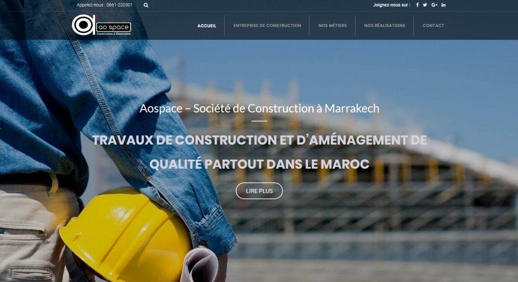 Société de construction à Marrakech - AOSPACE