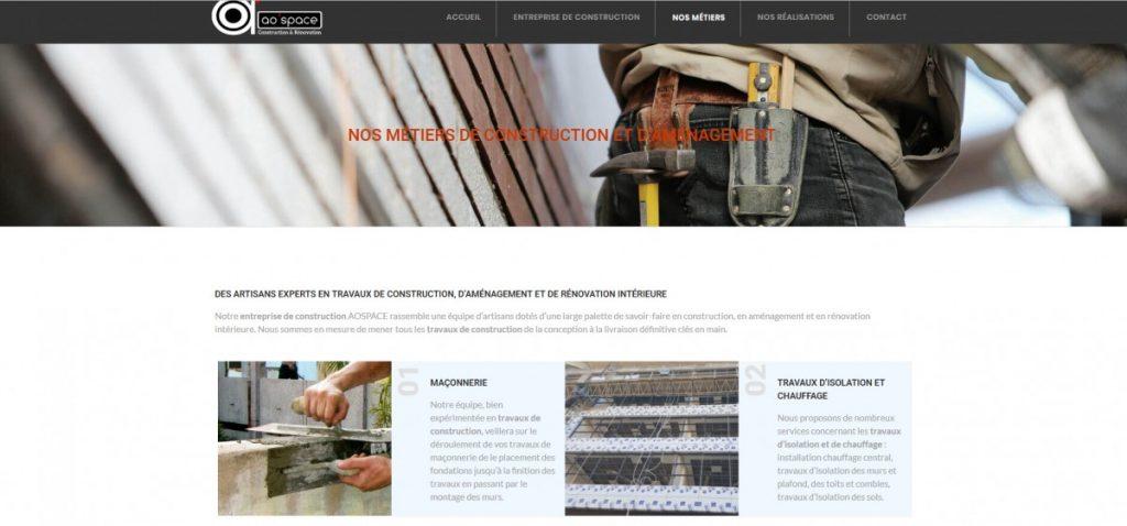 Société de construction - AOSPACE